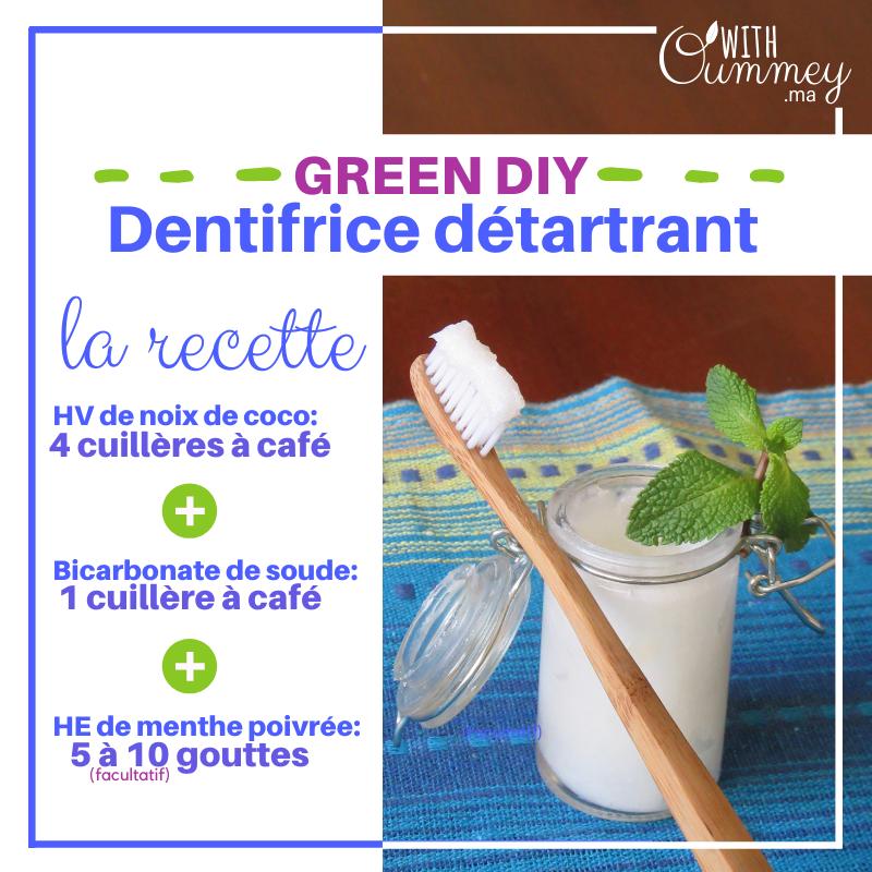 [DIY] Dentifrice Naturel Détartrant avec 3 ingrédients, seulement ! Bicarbonate de soude, huile de noix de coco | with Oummey | www.withoummey.ma |